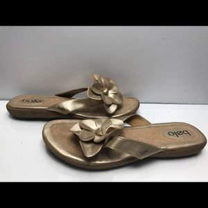 Bolo by Born Size 11 M US Women's Beige Brown Gold